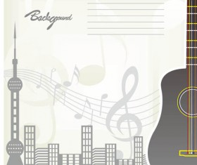 Romantic Music Backgrounds vector