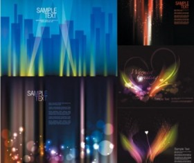 Different Bright Shiny fantasy background vectors material