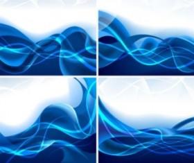 Dreams dynamic blue lines background vector set