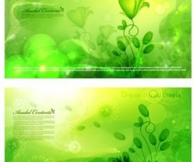 Spring green fantasy background vector