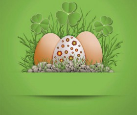 Easter Eggs with Backgrounds vector 01