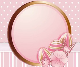 Easter Eggs with Backgrounds vector 02