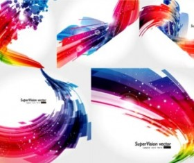 Abstract solid background set vector