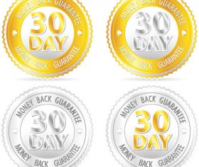 Sale with money back guarantee labels vector