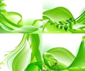 breath spring green background. vector