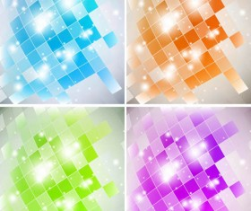 Sparkling Neon background vector material