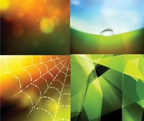 Colorful fantasy with cobweb background vector