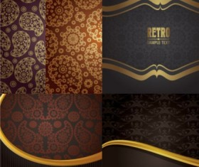 Luxury special design background vector material