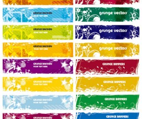 Garbage Banner vector graphics set