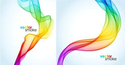 Colorful smoke background vector graphics