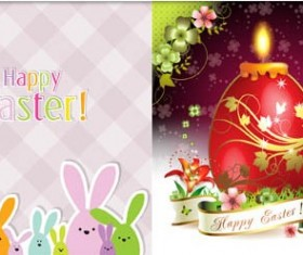 Shiny Easter Backgrounds vector