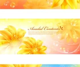 Fantasy flower background vector material