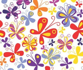 Colourful painted butterfly background vector