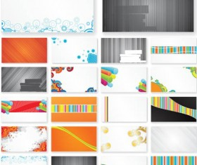 Business Cards Vivid vector set
