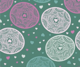 Painted circular background vector set