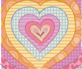 Cartoon love heart background vector
