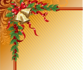 Christmas bell with ribbon backgrounds vector