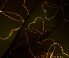 Beautiful heart-shaped Valentine Day background vector