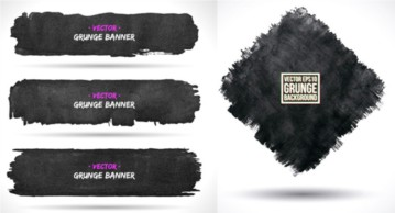 The ink traces banner background vector