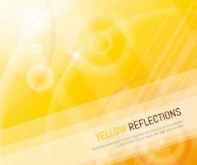 Brilliant yellow halo background vector