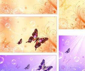 Fantasy design butterflies background vector