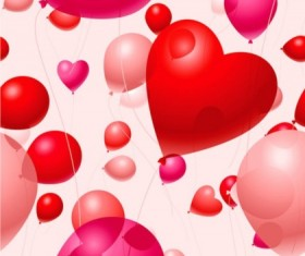 Heart-shaped balloons vector pattern