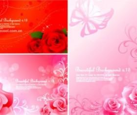 Bright rose fantasy background vector