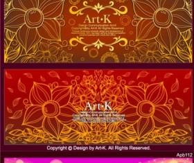 Fantasy design banners set vector