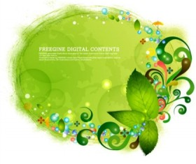Fresh fantasy green design background vector