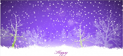 Forest christmas background  vector