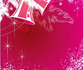 Bell with snowflake christmas vector