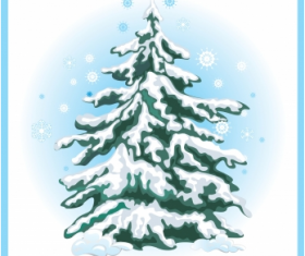 Simple Christmas tree with snow vector