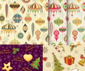 Cartoon ornaments christmas vector pattern