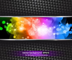 Colorful grid background set vector