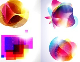 Fashion colorful graphics background vector