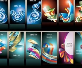 Gorgeous vertical banner vectors set