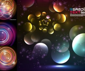 Colorful circle backgrounds vector