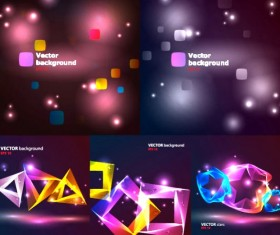 Light colorful graphics background vector
