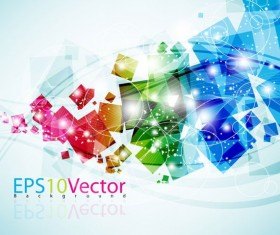 Colorful dynamic graphic background vector