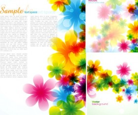 Colorful flower beautiful background vector