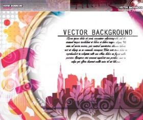 Beautiful urban background art vectors material