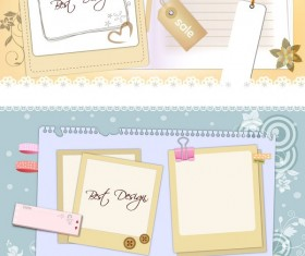 Notepad message board background vector graphics