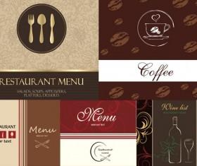 Restaurant food menu cover vector