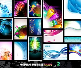 Modern business cards abstract vector