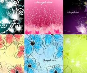 Abstract fantasy flower background vector