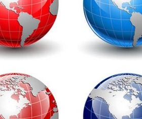 3D Glass Globes vector design