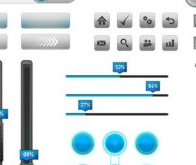 Control Buttons graphic design vectors
