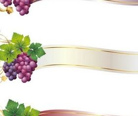 Grapes Elements free vector
