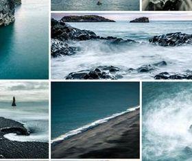 Landscapes Collage art vector