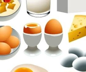 Delicious breakfast vectors graphics